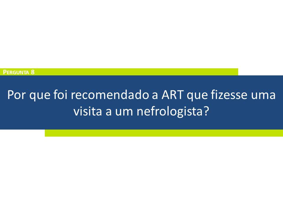 Por que foi recomendado a ART que fizesse uma visita a um nefrologista