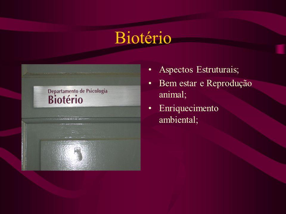 Biotério Aspectos Estruturais; Bem estar e Reprodução animal;