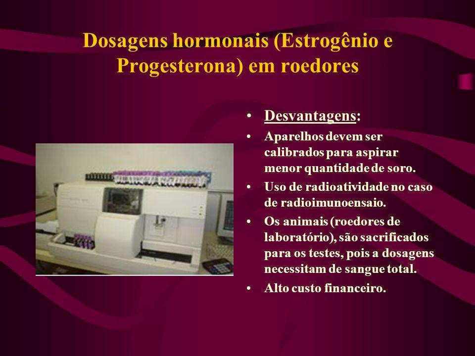 Dosagens hormonais (Estrogênio e Progesterona) em roedores