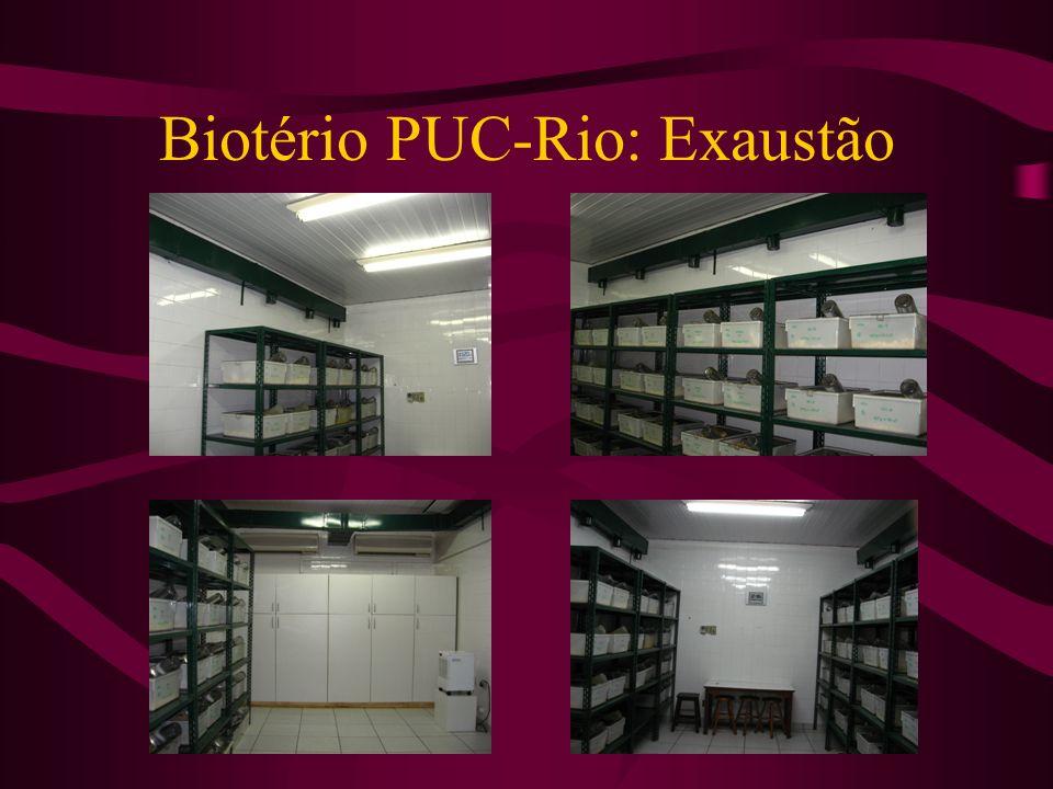 Biotério PUC-Rio: Exaustão