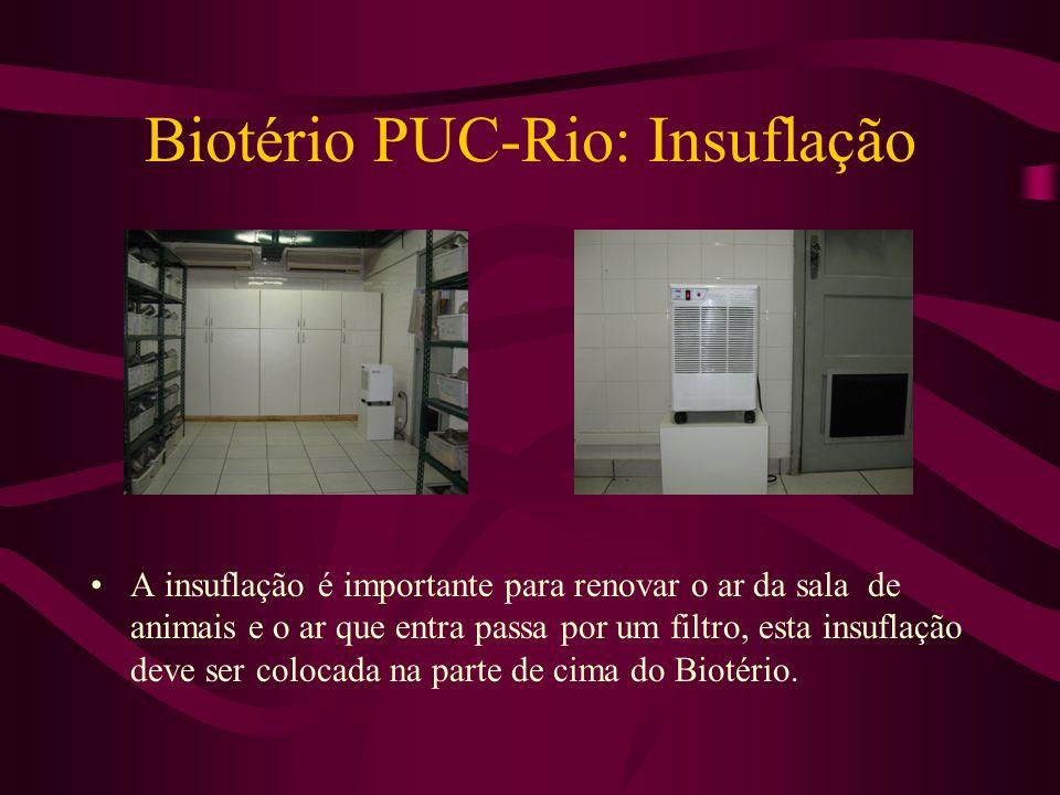 Biotério PUC-Rio: Insuflação