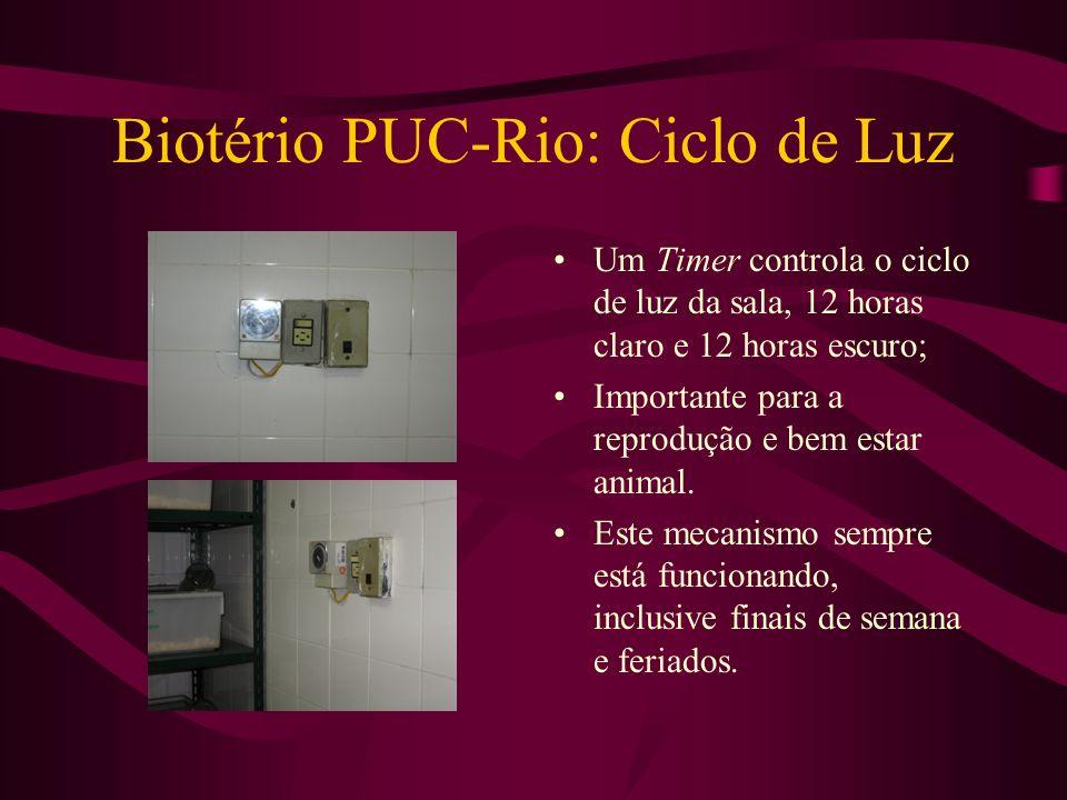 Biotério PUC-Rio: Ciclo de Luz