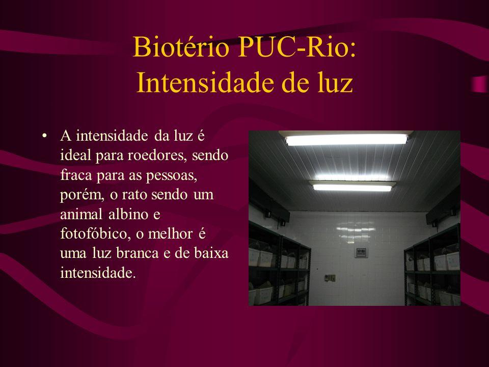 Biotério PUC-Rio: Intensidade de luz