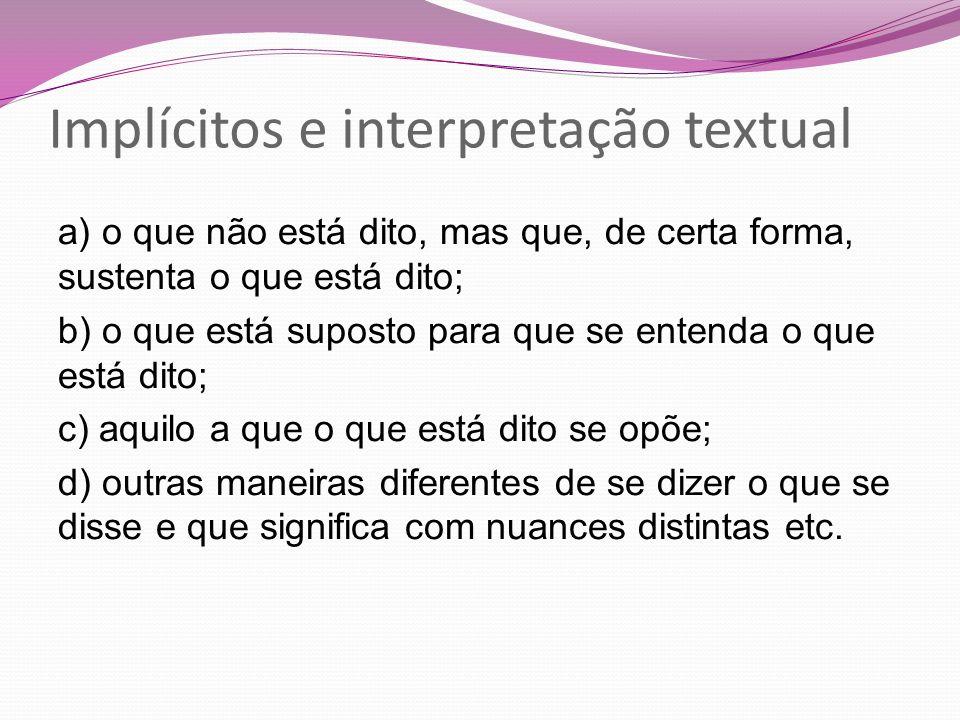 Implícitos e interpretação textual