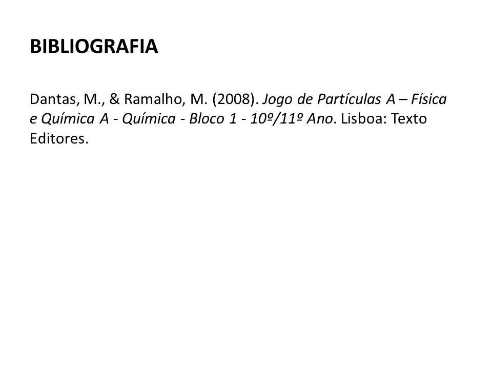 BIBLIOGRAFIA Dantas, M., & Ramalho, M. (2008).