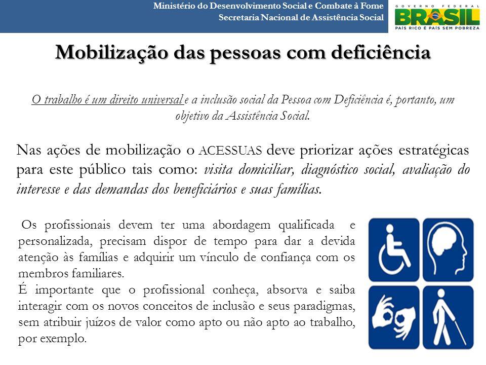 Mobilização das pessoas com deficiência