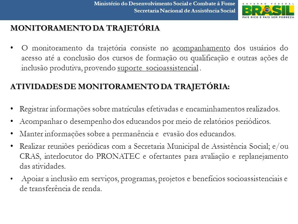 MONITORAMENTO DA TRAJETÓRIA