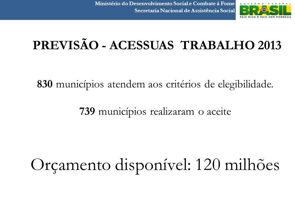 PREVISÃO - ACESSUAS TRABALHO 2013