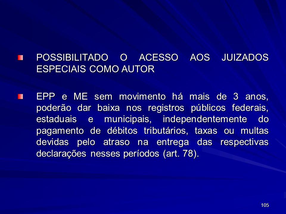 POSSIBILITADO O ACESSO AOS JUIZADOS ESPECIAIS COMO AUTOR