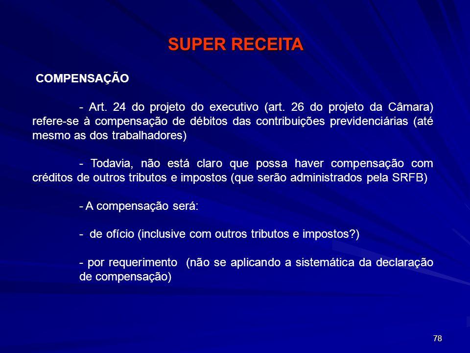 SUPER RECEITA COMPENSAÇÃO