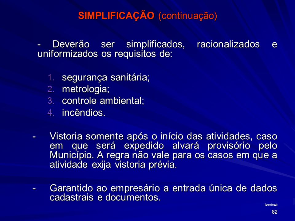 SIMPLIFICAÇÃO (continuação)