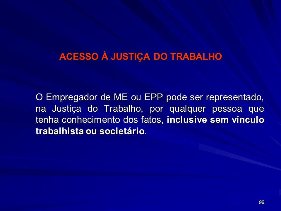 ACESSO À JUSTIÇA DO TRABALHO