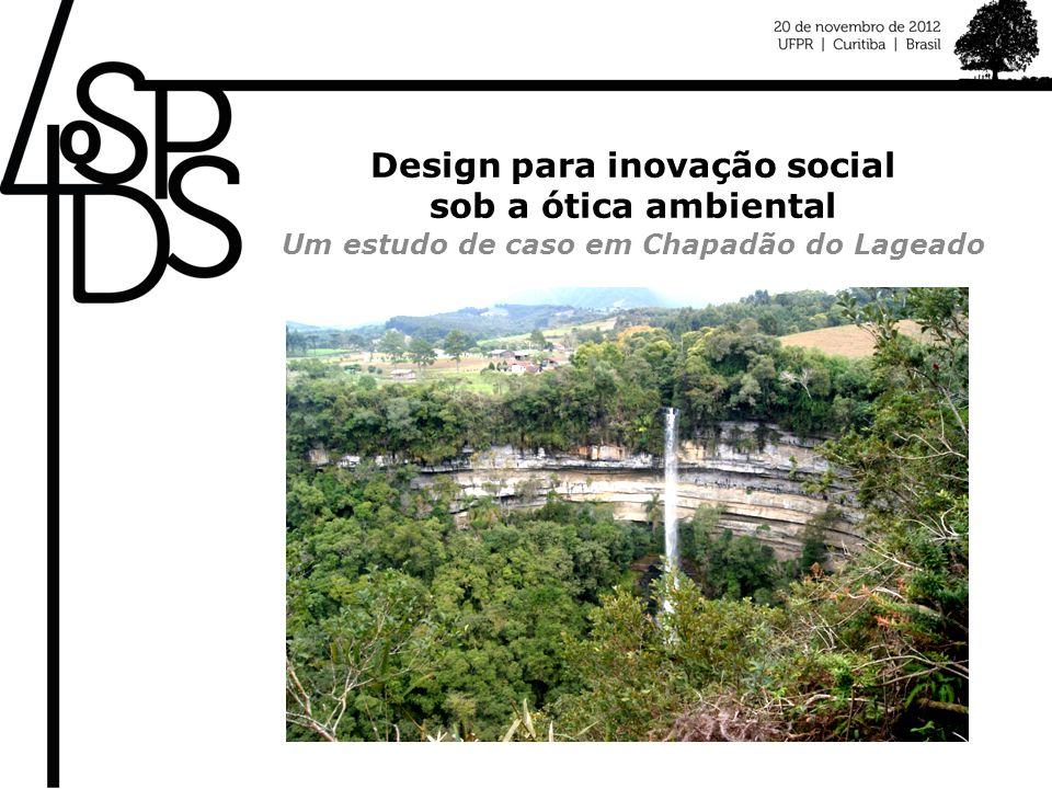 Design para inovação social sob a ótica ambiental