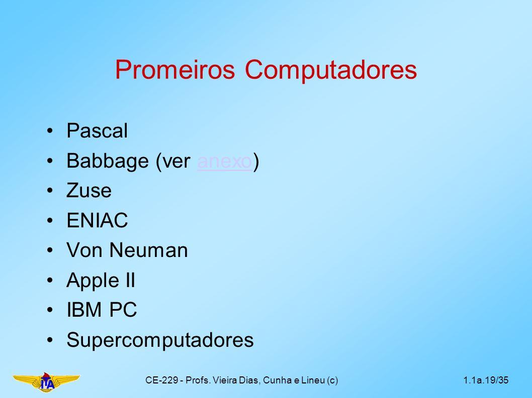 Promeiros Computadores
