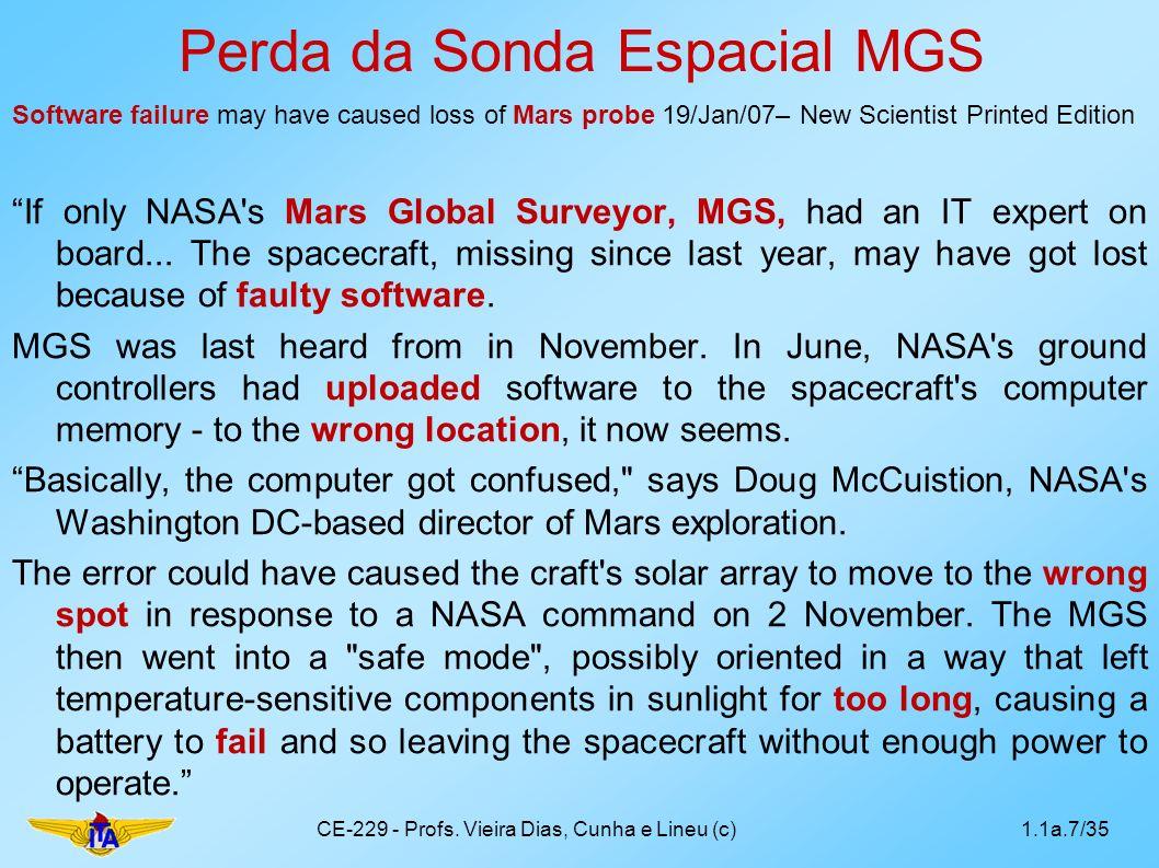 Perda da Sonda Espacial MGS