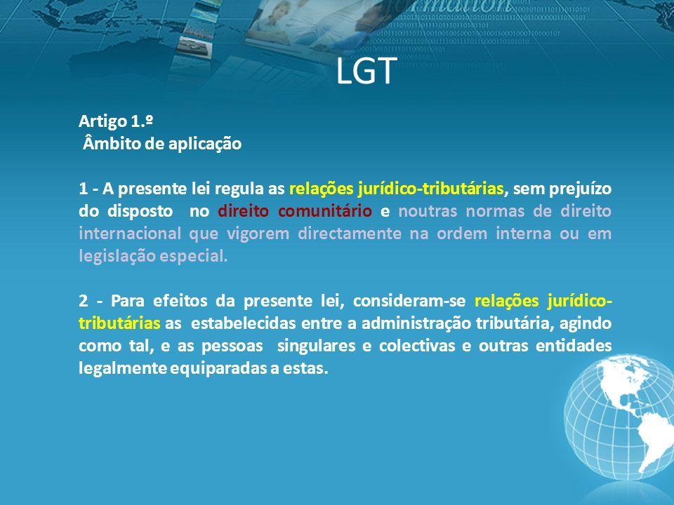 LGT Artigo 1.º Âmbito de aplicação