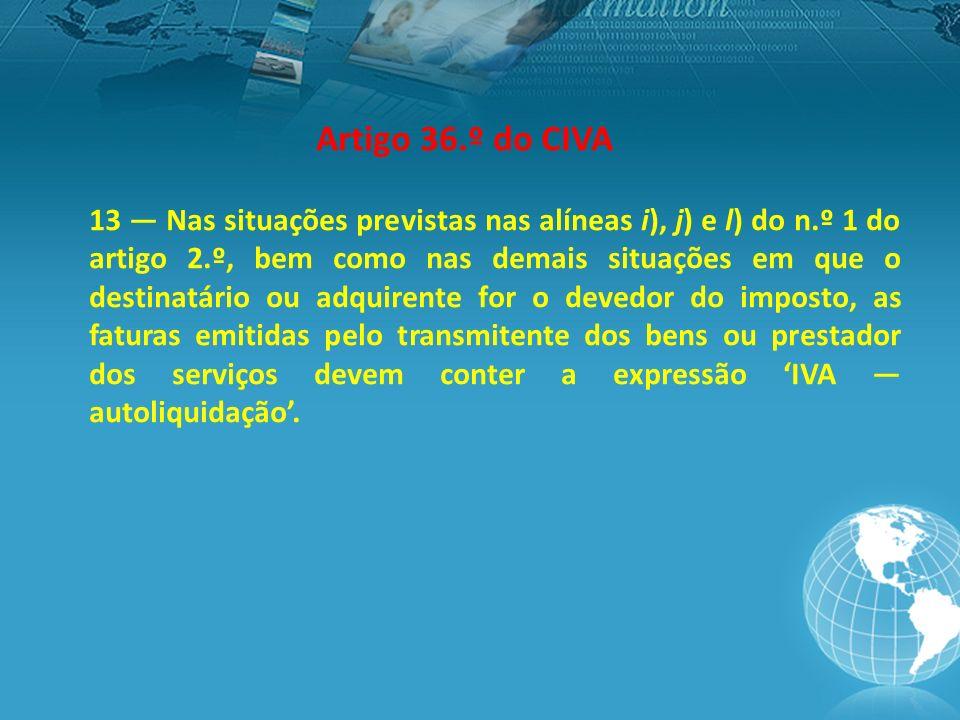 Artigo 36.º do CIVA