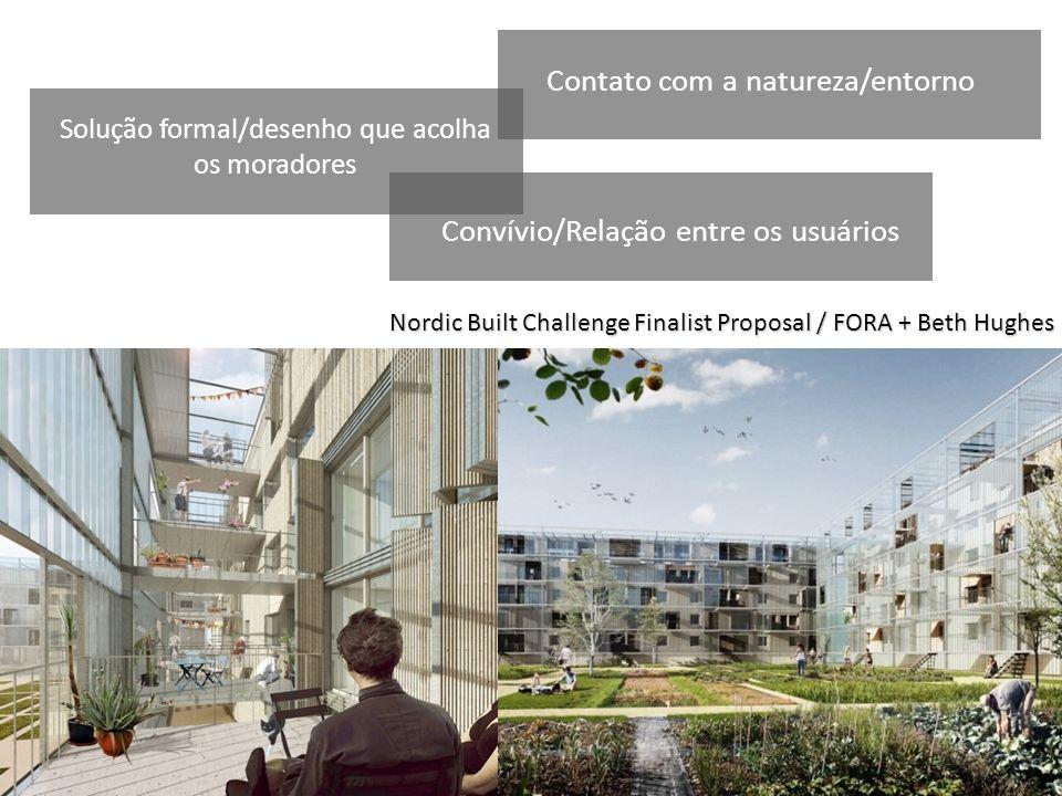 Solução formal/desenho que acolha os moradores
