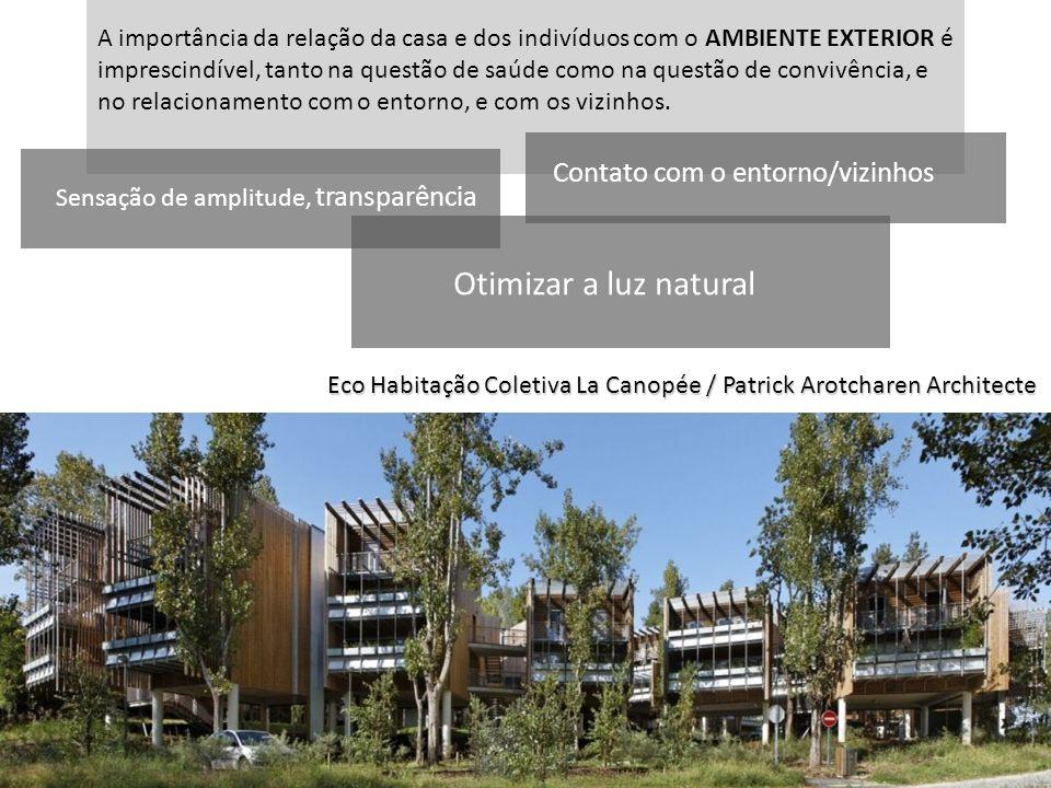 Otimizar a luz natural Contato com o entorno/vizinhos