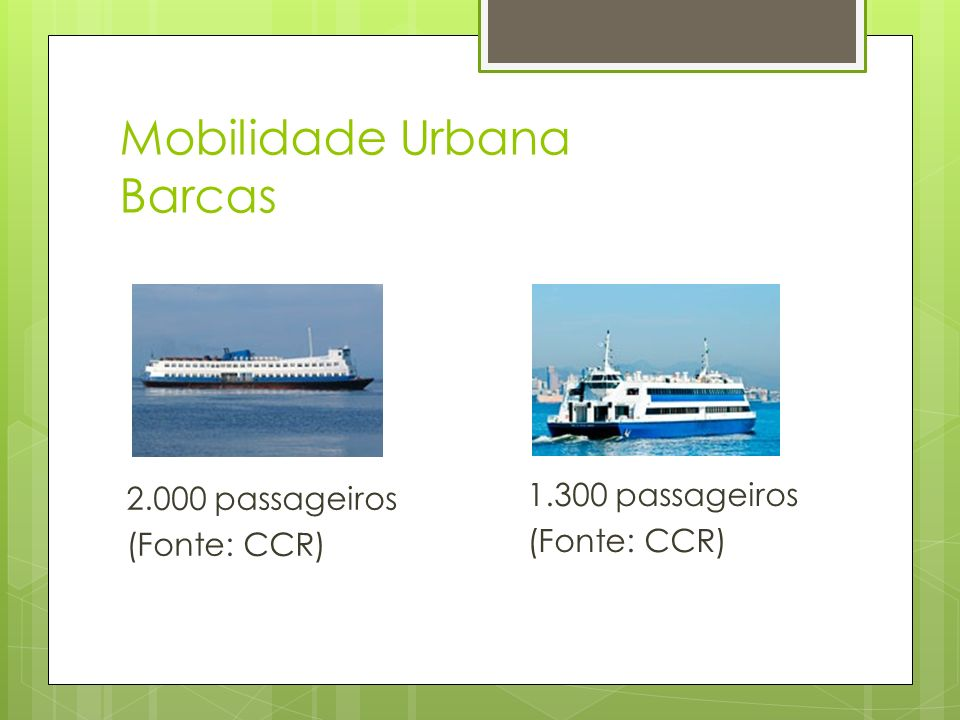 Mobilidade Urbana Barcas
