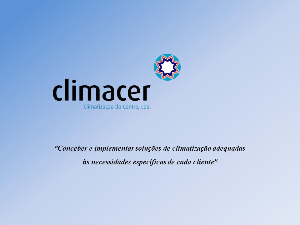 Conceber e implementar soluções de climatização adequadas
