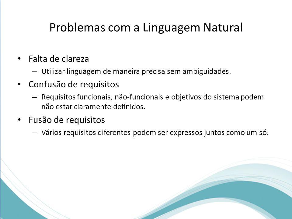 Problemas com a Linguagem Natural