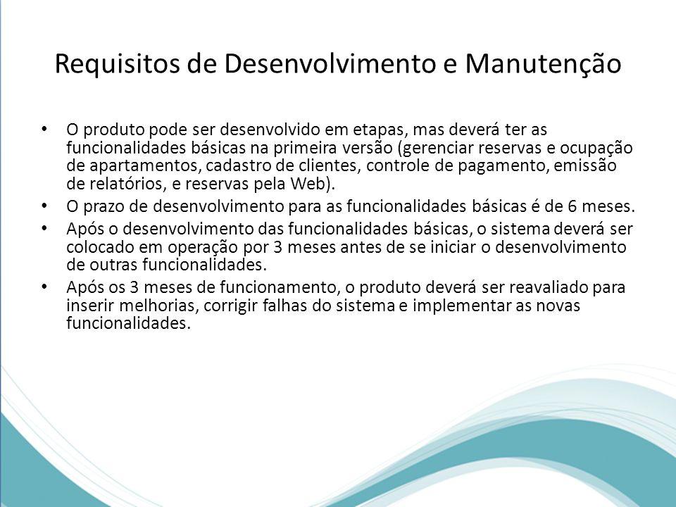Requisitos de Desenvolvimento e Manutenção