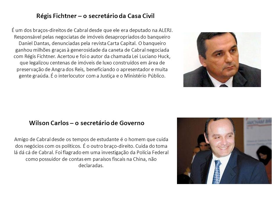 Wilson Carlos – o secretário de Governo