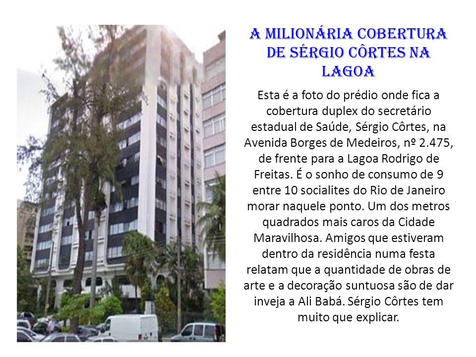 A milionária cobertura de Sérgio Côrtes na Lagoa