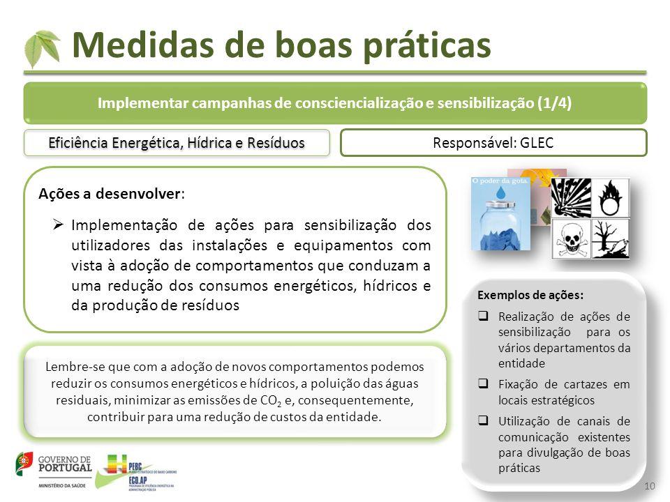 Implementar campanhas de consciencialização e sensibilização (1/4)