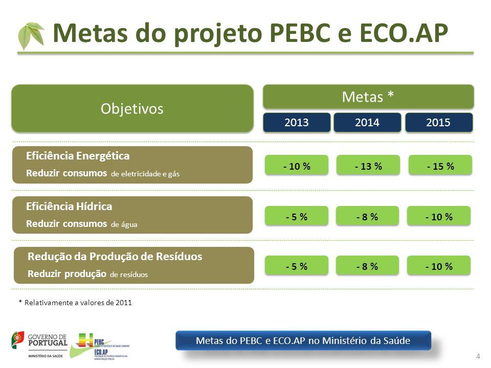 Metas do PEBC e ECO.AP no Ministério da Saúde