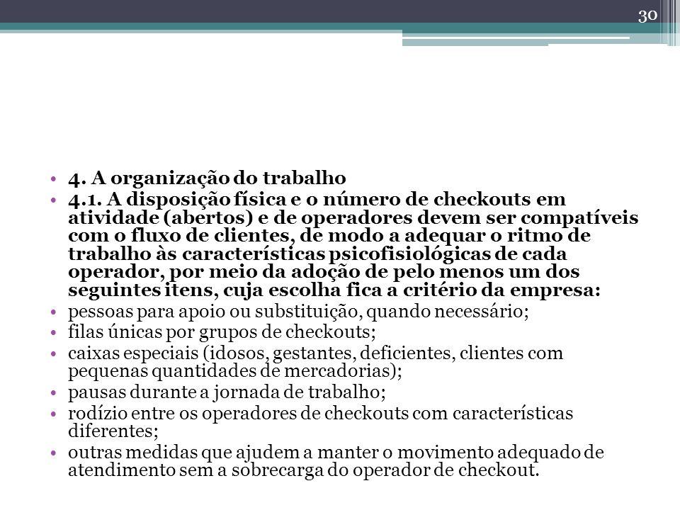 4. A organização do trabalho