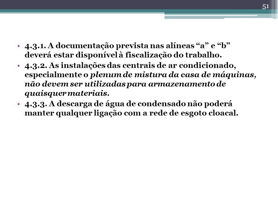 4.3.1. A documentação prevista nas alíneas a e b deverá estar disponível à fiscalização do trabalho.