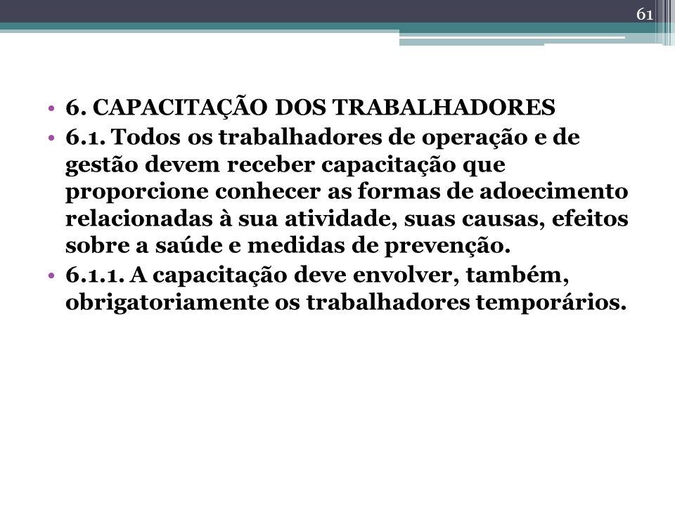 6. CAPACITAÇÃO DOS TRABALHADORES