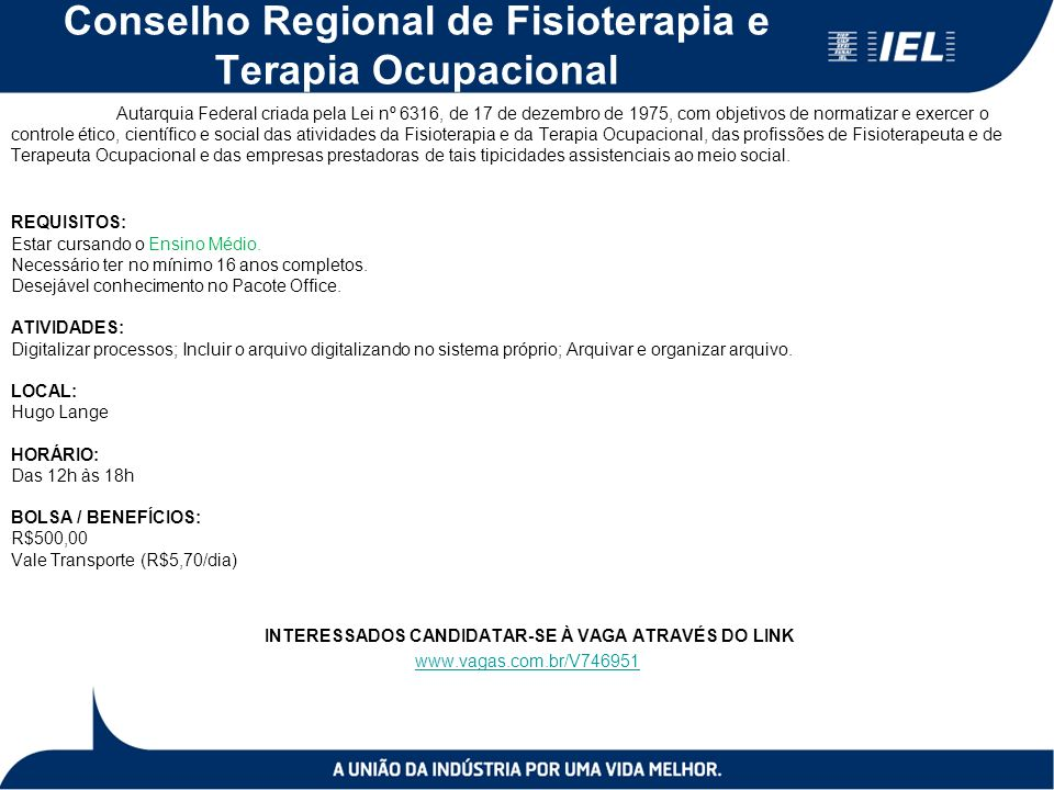 Conselho Regional de Fisioterapia e Terapia Ocupacional