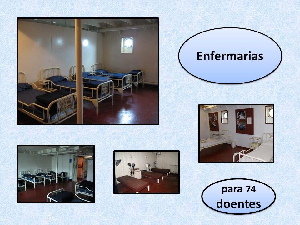 Enfermarias para 74 doentes