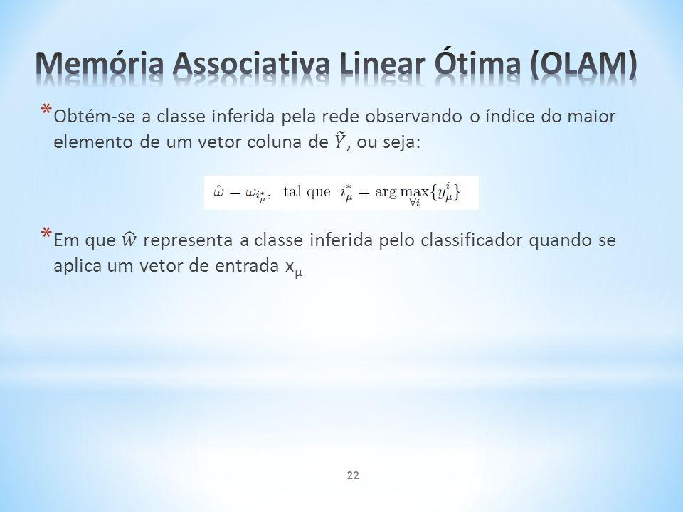 Memória Associativa Linear Ótima (OLAM)