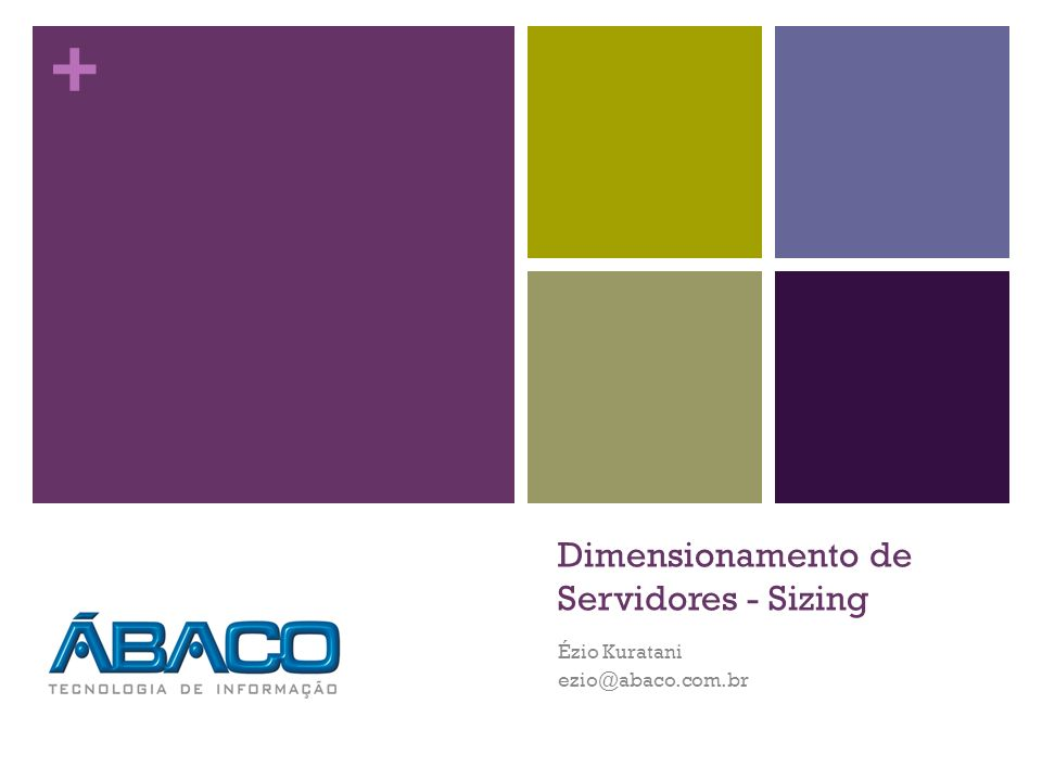 Dimensionamento de Servidores - Sizing