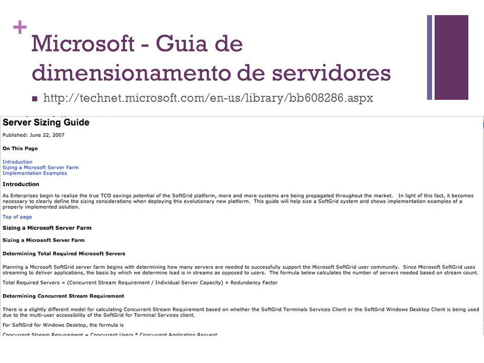Microsoft - Guia de dimensionamento de servidores