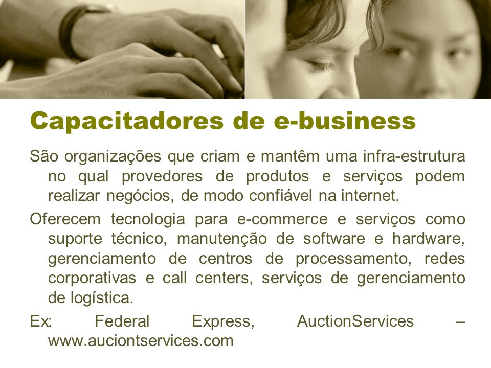 Capacitadores de e-business