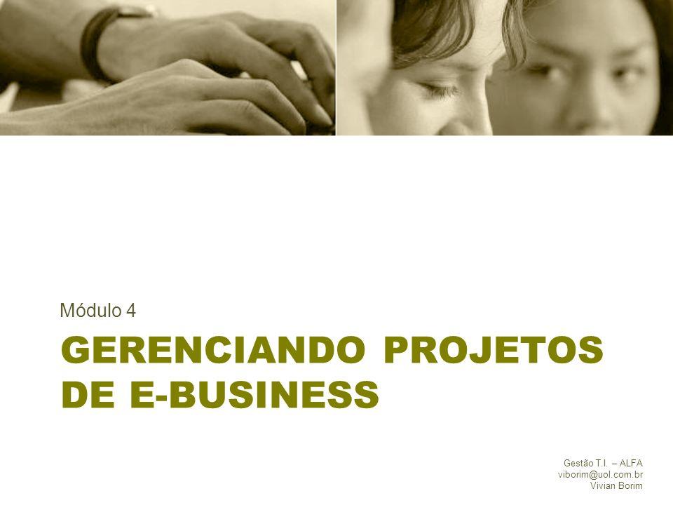 Gerenciando projetos de e-business
