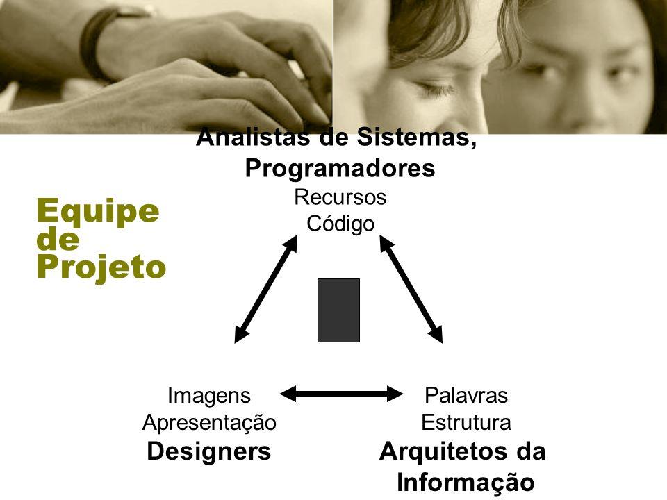 Analistas de Sistemas, Programadores Arquitetos da Informação