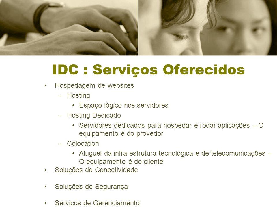 IDC : Serviços Oferecidos