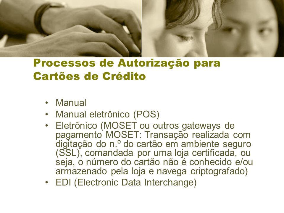 Processos de Autorização para Cartões de Crédito