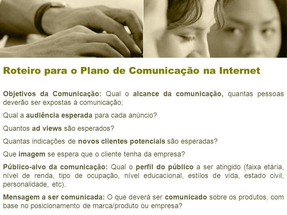 Roteiro para o Plano de Comunicação na Internet