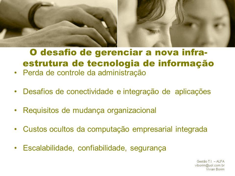 O desafio de gerenciar a nova infra-estrutura de tecnologia de informação