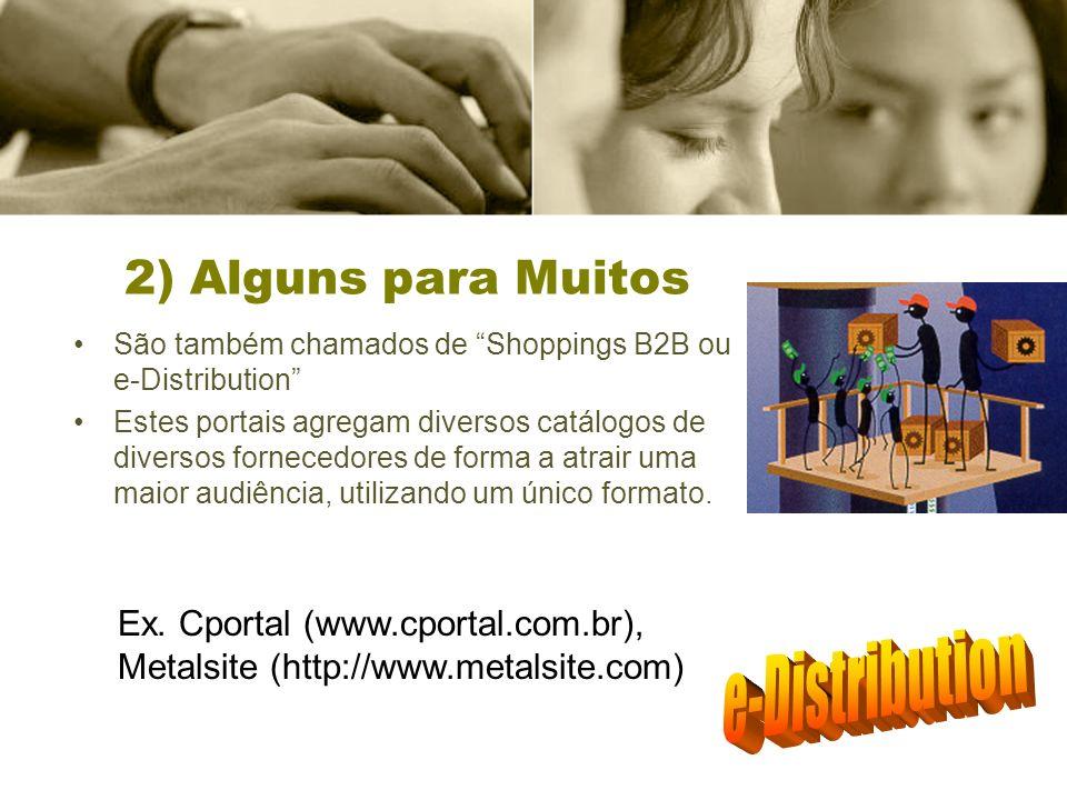 e-Distribution 2) Alguns para Muitos
