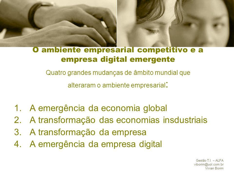 O ambiente empresarial competitivo e a empresa digital emergente
