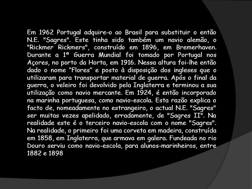 Em 1962 Portugal adquire-o ao Brasil para substituir o então N. E