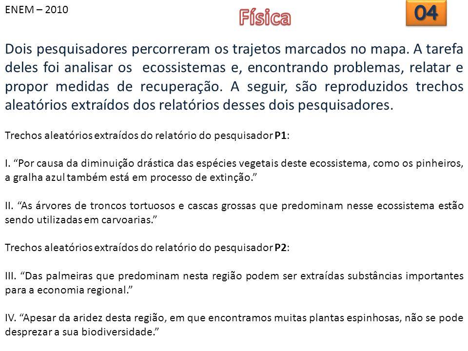 ENEM – 2010 Física. 04.